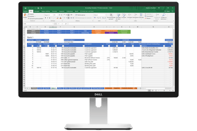 Excel accounting template the all in one accounting solution for with the excel accounting template you can flashek Image collections