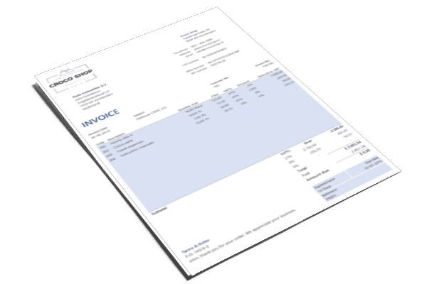 Create a beautiful invoice