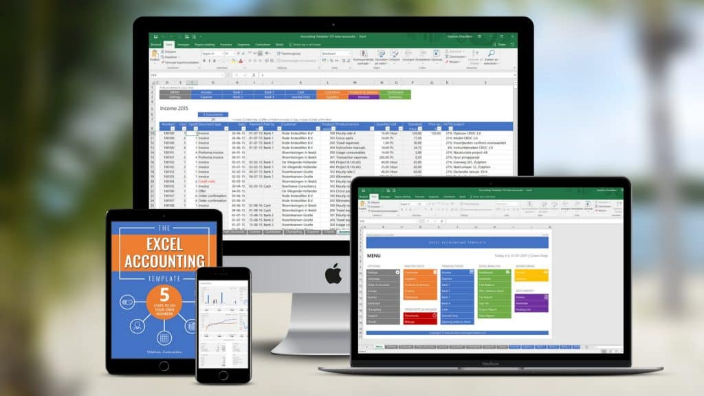 Excel accounting template try the all in one accounting solution please click on the download link below to get your free demo of the excel accounting template no opt in required flashek Images