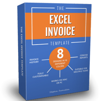excel invoice template box