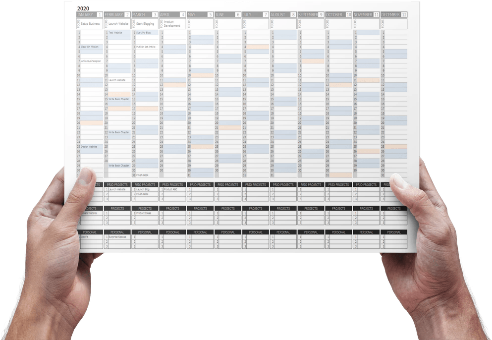 business planner in excel
