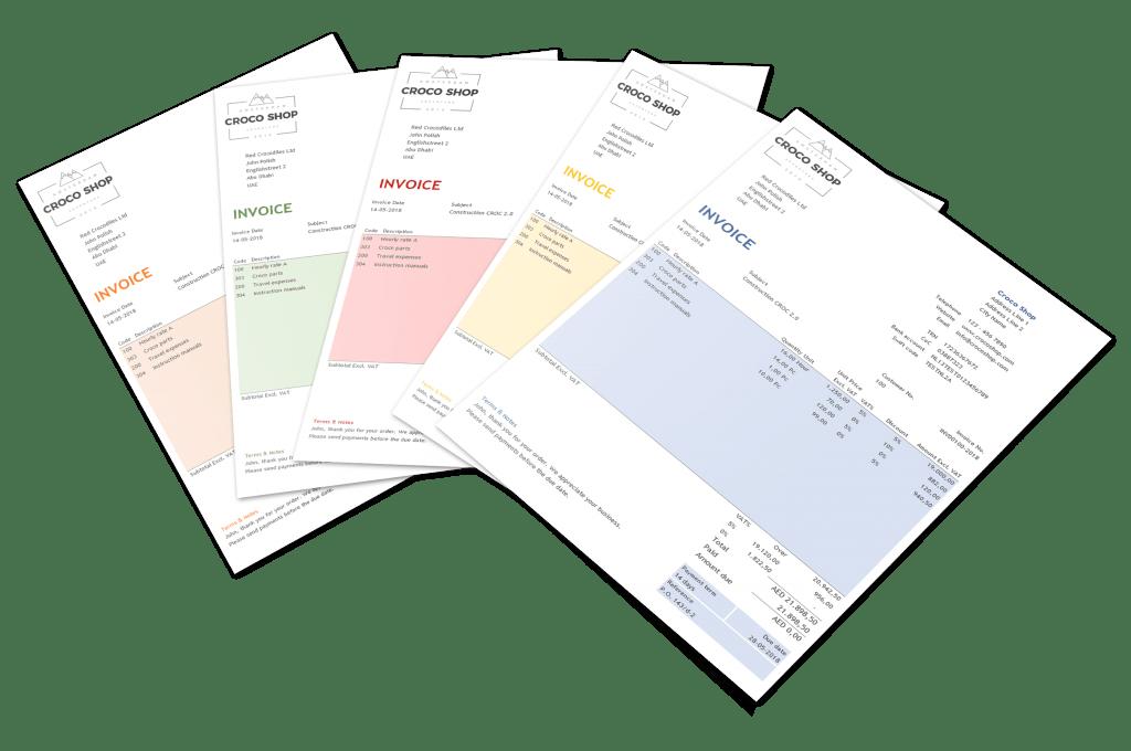 uae vat return system invoice examples